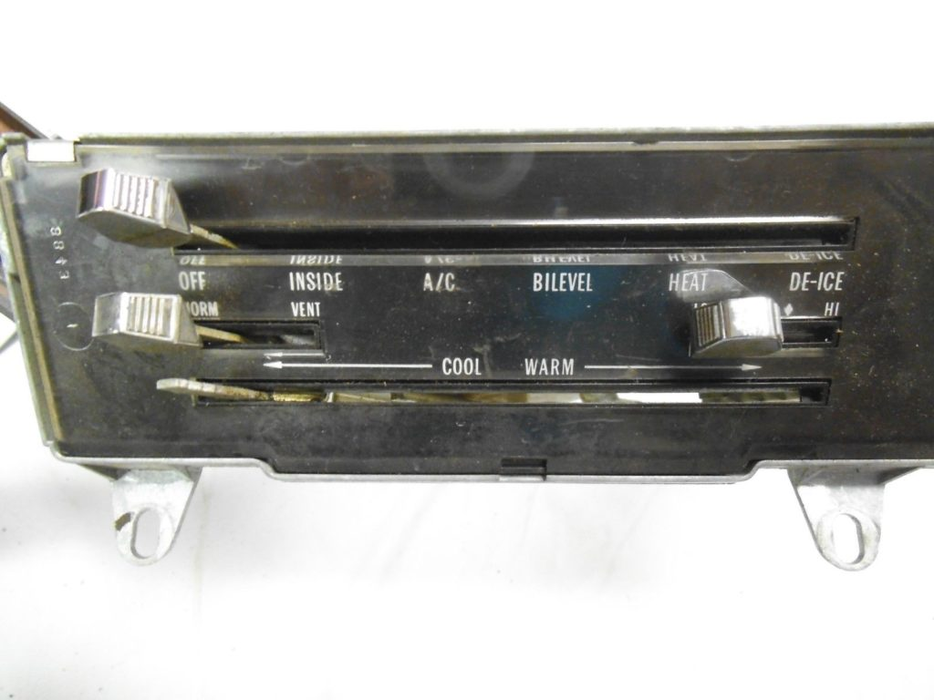 70 72 Gto Ac And Heater Control Panel Potomac Classic