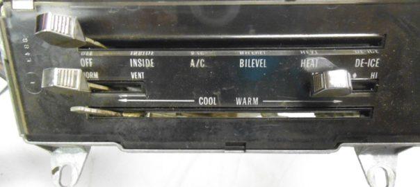 70-72 GTO AC and Heater control panel | Potomac Classic Pontiac